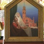 feretron przedstawiajacy św. Monikę z synem św. Augustynem