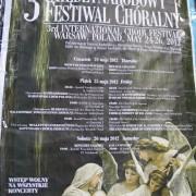 plakat III Międzynarodowego Festiwalu Chóralnego